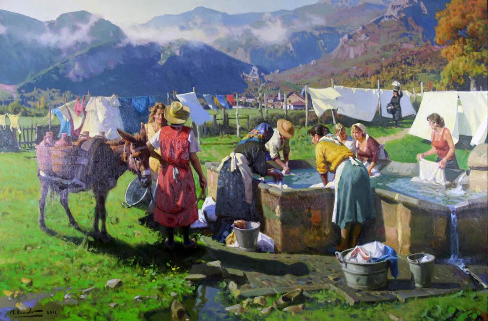 Las Lavanderas, arte, belleza y cruda realidad